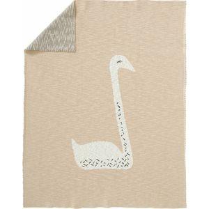 Fresk Gebreide Wiegdeken - Swan Peach