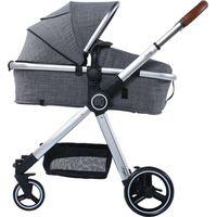 Titaniumbaby Kinderwagen Beeyu Comfy - Light Grey