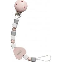 BamBam Pacifier Clip heart Pink