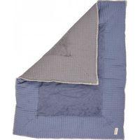 Koeka Boxkleed Wafel Amsterdam Stormy Blue/Steel Grey 80x100 cm