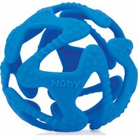 Nuby Flexibele Silicone Teething Ball - Blue