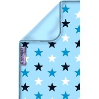 Dooky Blanket 70x85cm - Baby Blue / Blue Stars