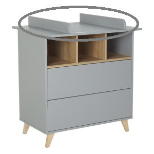 Quax Barrier Commode Loft - Grey
