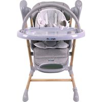 Bo Jungle B-Swinging High Chair - Wood Grey