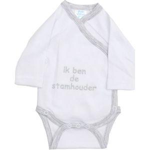 """Romper Met Tekst """" Ik Ben De Stamhouder'' - Petit Villian"""