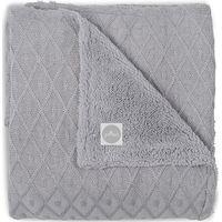 Jollein Deken 75x100cm Diamond Knit Teddy - Vintage Grey