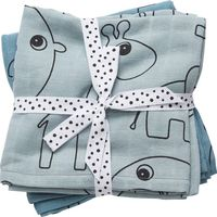 Done By Deer Omslagdoek 2 St. Contour - Blauw