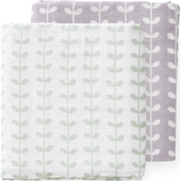 Fresk Swaddle Set 120x120cm Leaves Mint (UL)