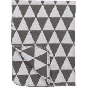 Meyco Ledikantdeken Triangle Grijs