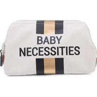 Childhome Baby Necessities Toilettas Canvas - OffWhite Stripes Black/Gold