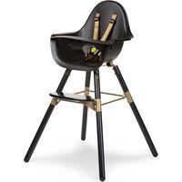 Childhome Evolu 2 Kinderstoel 2-in-1 Met Beugel - Zwart/Goud