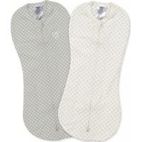 Swaddle Me Pod Preemie/Newborn 2-pack Grey/White Dot - Summer