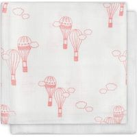 Jollein Monddoekje Hydrofiel Bamboe Balloons - Pink LN (2pack)