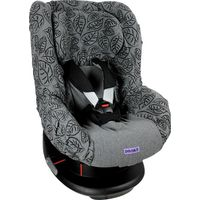 Dooky Seat Cover Groep 1 Autostoelhoes - Black Grey Leaves