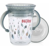Nuby 360° Wonder Cup 240 ML Met Handvaten - Grey