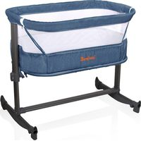 Baninni Bed Side Crib Nesso - Blue