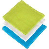 Jollein Monddoekje Hydrofiel Soft - Lime/Aqua/Wit (3pack)