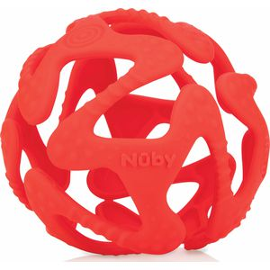 Nuby Flexibele Silicone Teething Ball - Red