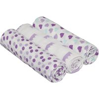Lässig Swaddle & Burp Blanket L - Little King&Queen Girls