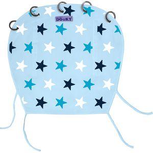 Dooky Universal Cover Design Zonnekap - Baby Blue/Blue Stars