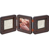 Baby Art My Baby Touch Double Print Frame - Copper Dark