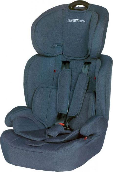 Titanium Autostoel Niklas Groep1/2/3 (9-36kg) - Denim