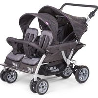 Childwheels Kinderwagen Quadruple Anthracite 4 Kinder