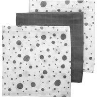 Meyco Hydrofiele Luiers - Dots - Uni - Dots Grijs - Wit