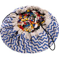 Speelgoedzak Play&Go Zigzag Blue