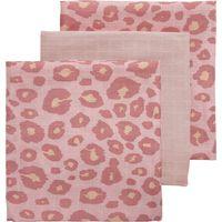 Meyco Hydrofiele Luiers Panter Pink- Uni Lichtroze- Panter pink