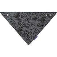 Dooky Dribble Bib Slabje - Black Grey Leaves