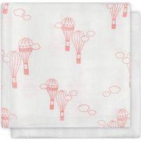 Hydrofiel monddoekje bamboe Balloons pink LN (2pack)