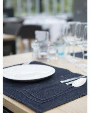 Placemat chaud devant denim