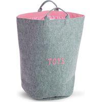 Childhome Vilten Speelgoedzak Rond - Soft Pink
