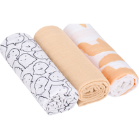 Lässig Swaddle & Burp Blanket L - Little Spookies Peach