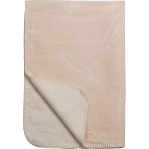 Ledikantdeken Feather Peach 120x150cm - Meyco