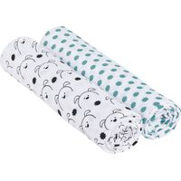 Lässig Swaddle & Burp Blanket X- Large - Little Chums Dog