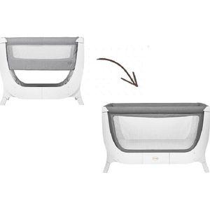 Shnuggle Air Pack Bedside Sleeper + Uitbreidingsset + Matras - Dove Grey