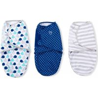 Swaddle Me Premium Small Whale & Blue Stars & Grey Stripe - 3-pack - Summer (UL)