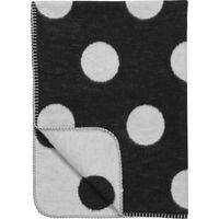 Ledikantdeken Black Label Big Dot Zwart/Wit 120x150cm - Meyco