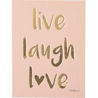 Childhome Schilderij 30x40 - Live Laugh Love