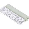 Lässig Swaddle & Burp Blanket X- Large - Little Spookies Olive