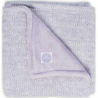 Jollein Deken 100x150cm Melange Knit Fleece - Soft Lilac