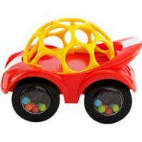 Oball Auto Rattle & Roll - Rood (Let op: achterwieltjes volledig zwart!)