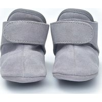 Lodger Leren Babyslofjes 15-18m Light Grey