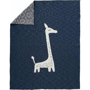 Fresk Gebreide Ledikantdeken - Giraf Indigo