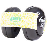 Em's 4 Bubs Black Gehoorbeschermers White/Lemon Floral