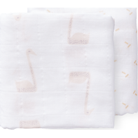 Fresk Swaddle Set 70x60cm Swan - Pale Peach