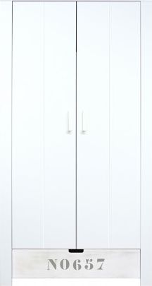 Bopita 2-Deurskast Medium White/White Wash NO657 - Basic Wood BabyFlex