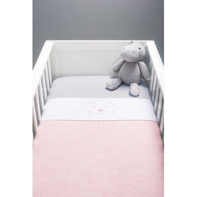 Jollein Deken 100x150cm Melange Knit - Soft Pink